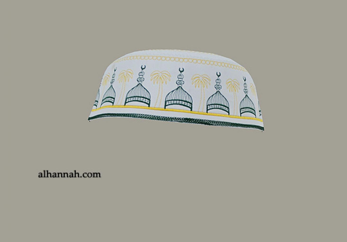 Men's Solid Kufi with Embroidery  me582