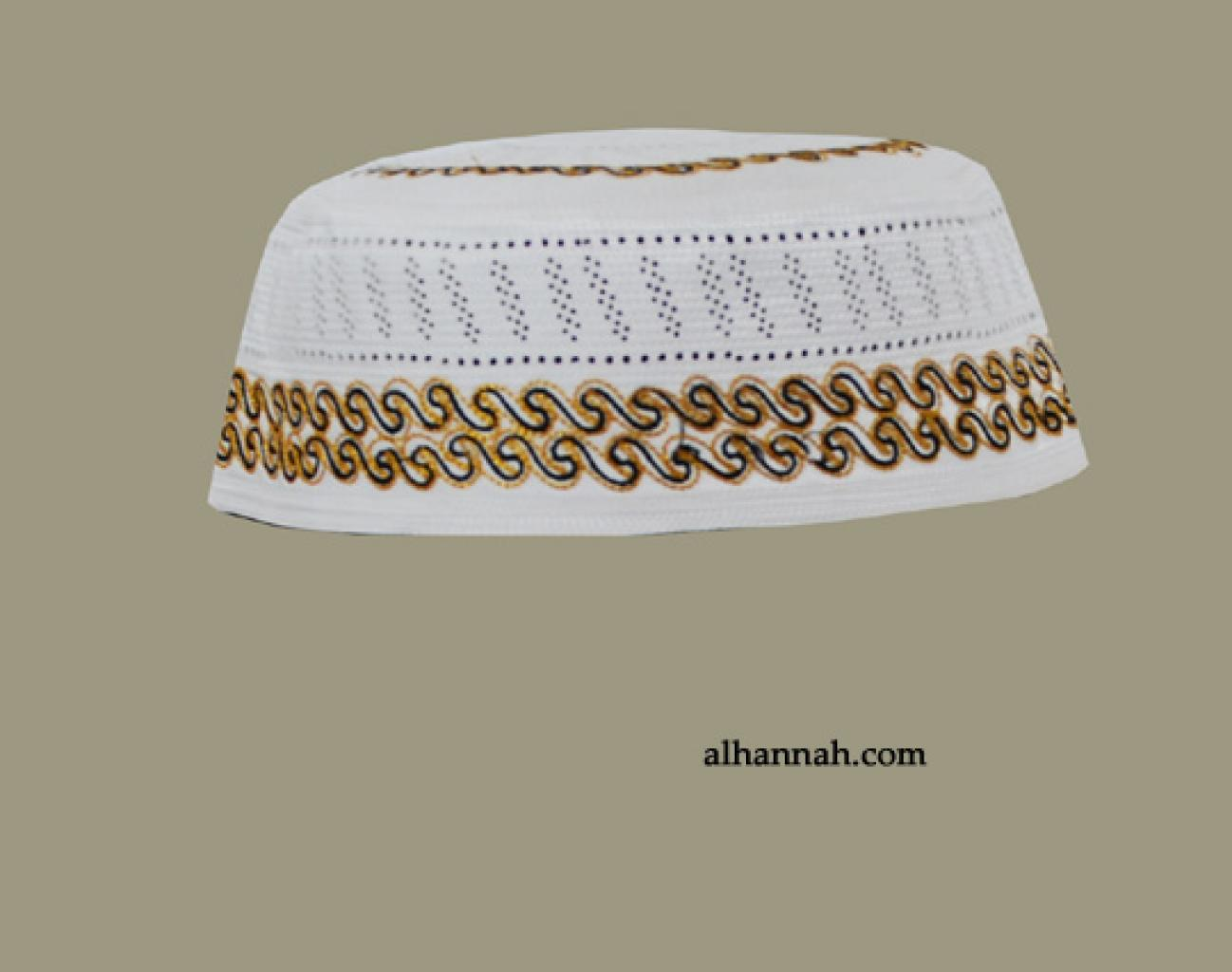 Men's Solid Kufi with Embroidery  me585