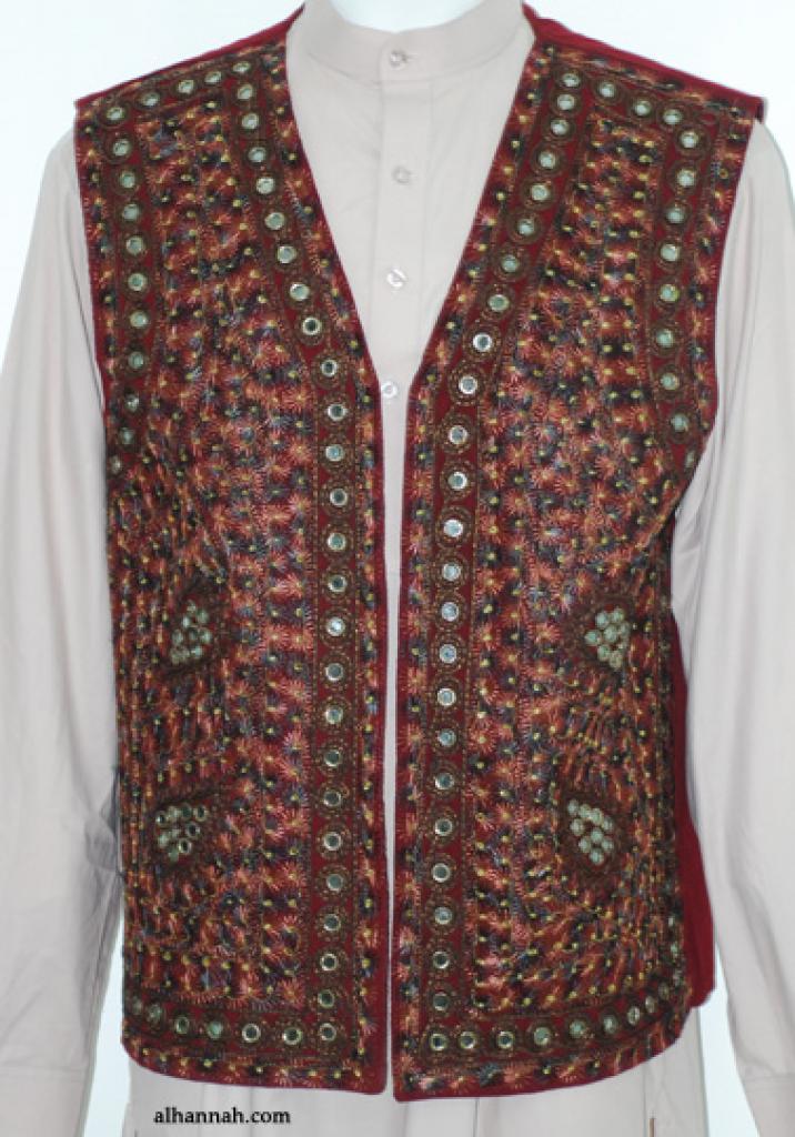 Men's Embroidered Vest  me586