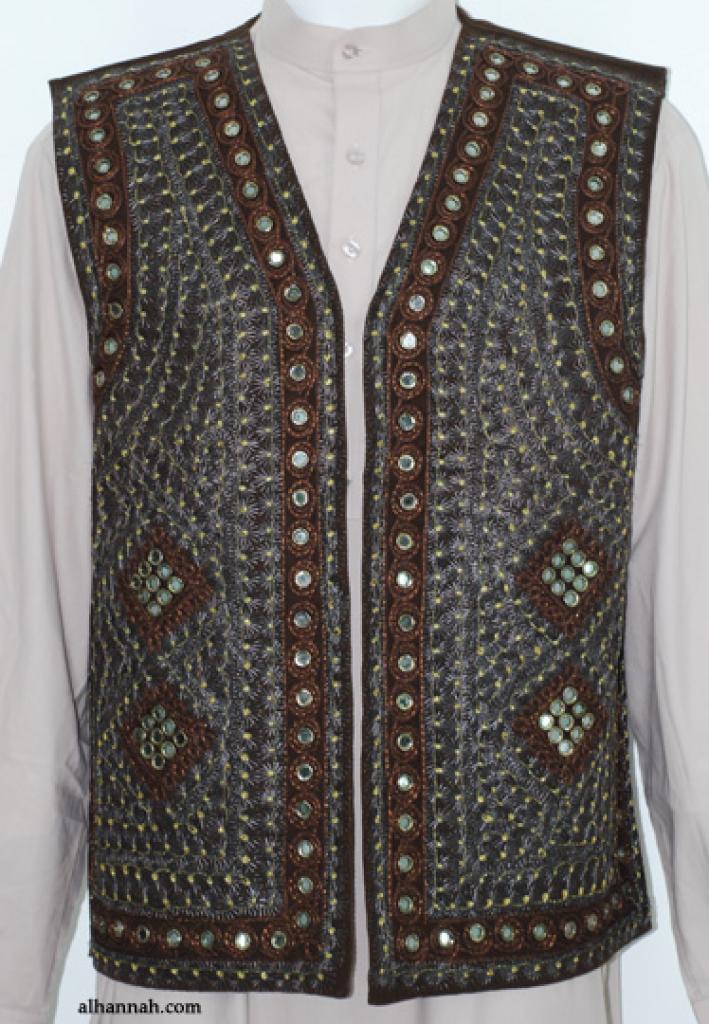Men's Embroidered Vest  me587