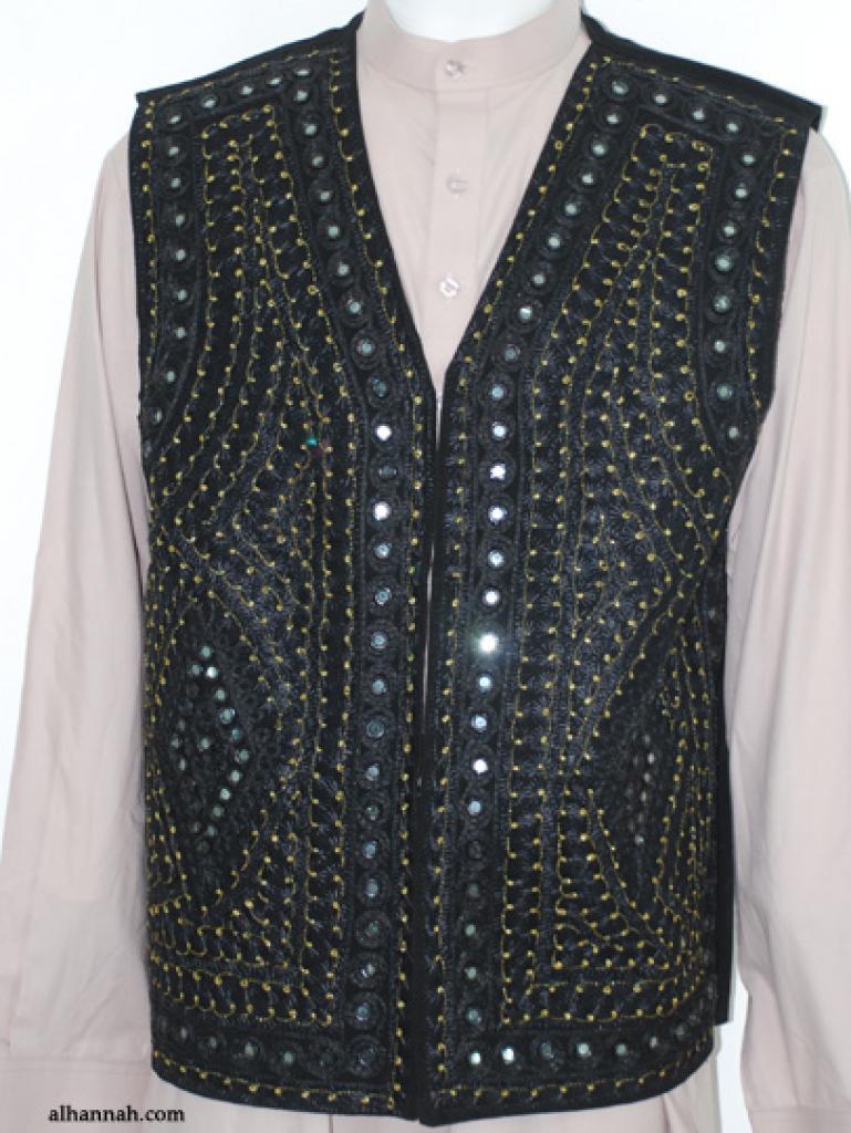 Men's Embroidered Vest  me588