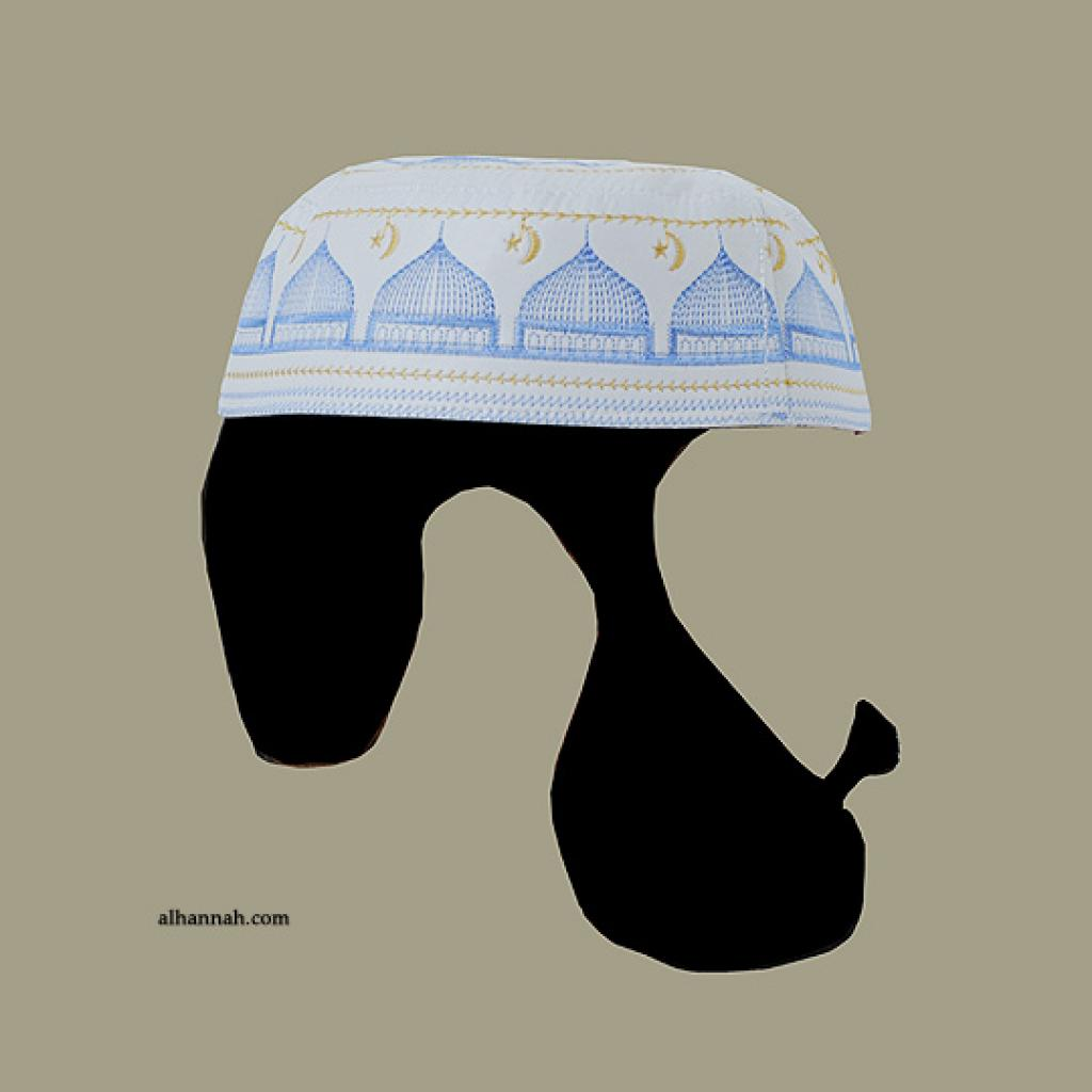 Men's Solid Kufi with Embroidery  me589