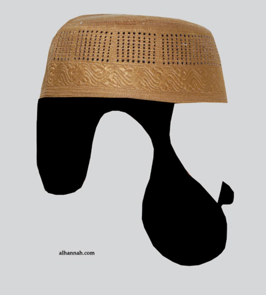 Men's Solid Kufi with Embroidery  me591
