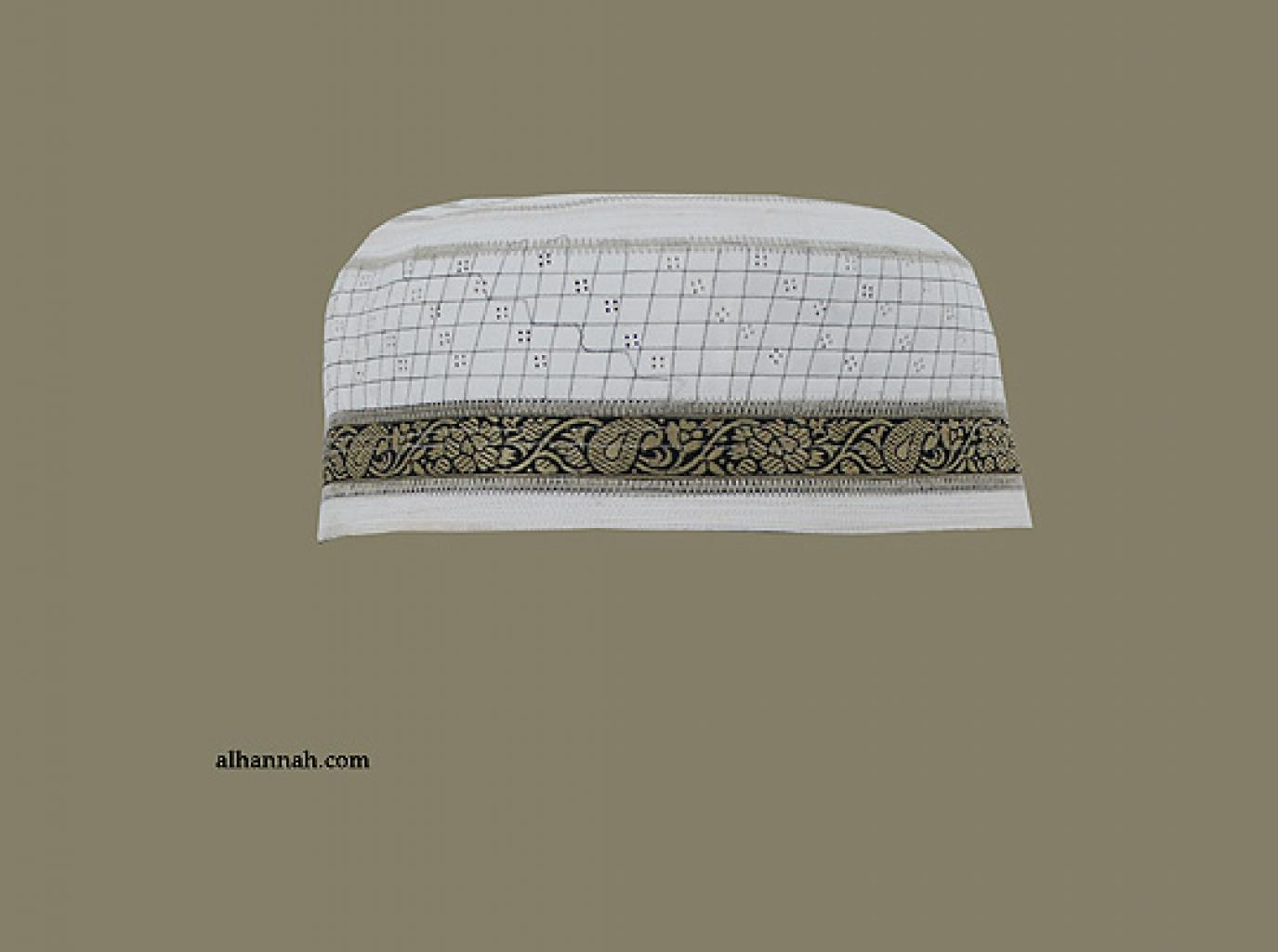 Men's Solid Kufi with Embroidery me594