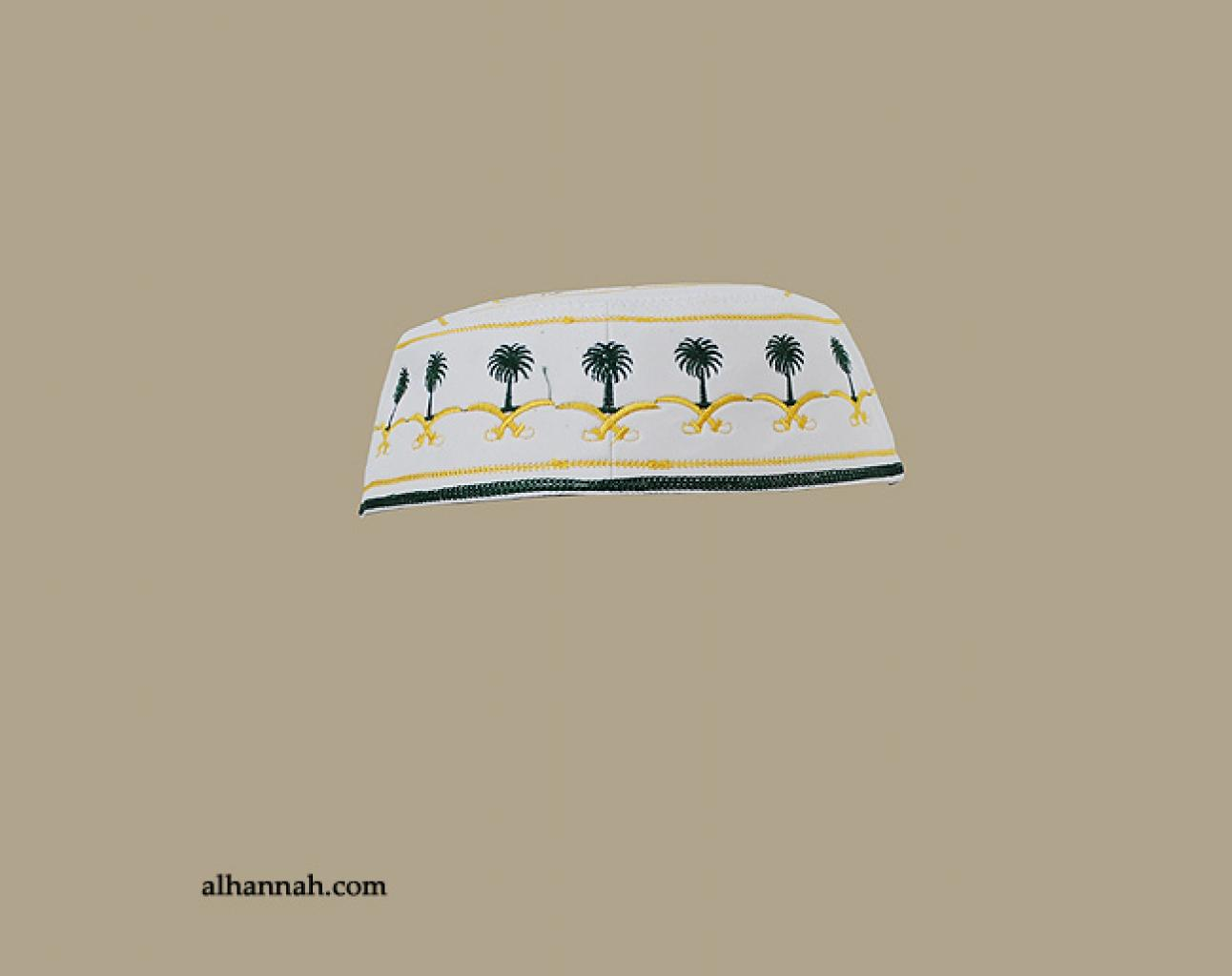 Men's Solid Kufi with Embroidery me596