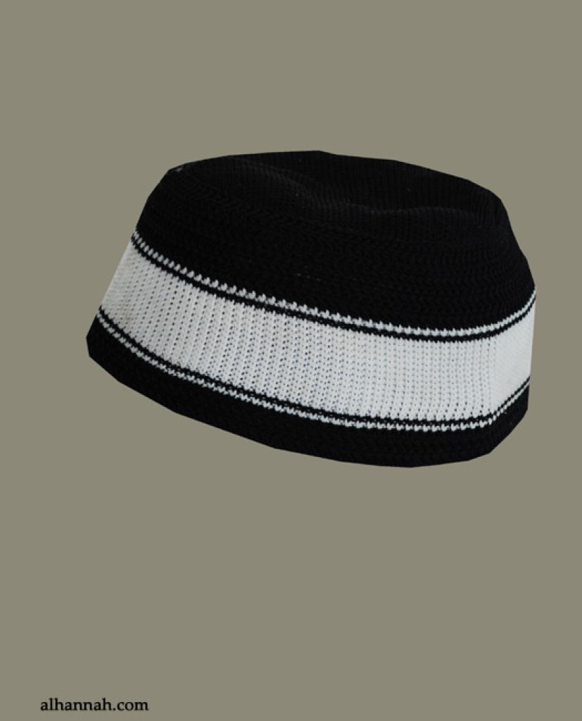 Acrylic Knit Striped Kufi me600