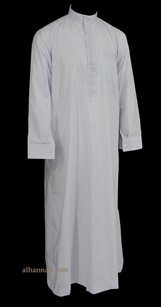 Deluxe Embroidered Mens Saudi Dishdasha me603