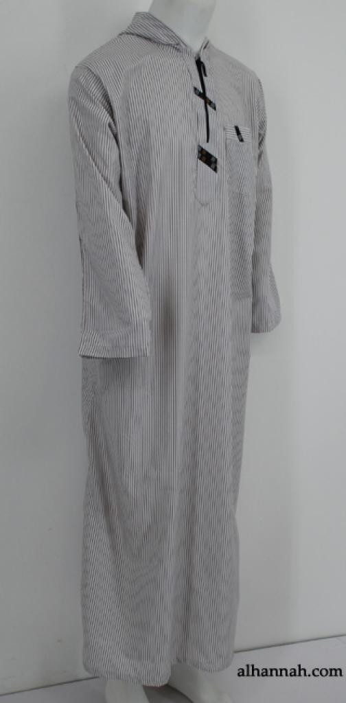 Mens Deluxe Moroccan Hooded Dishdasha  me624