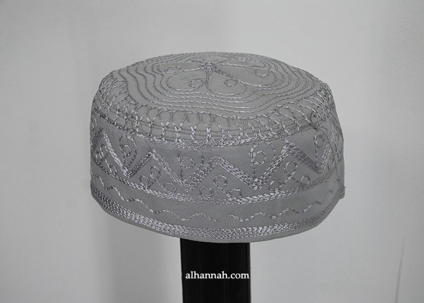 Men's Solid Kufi with Embroidery me627
