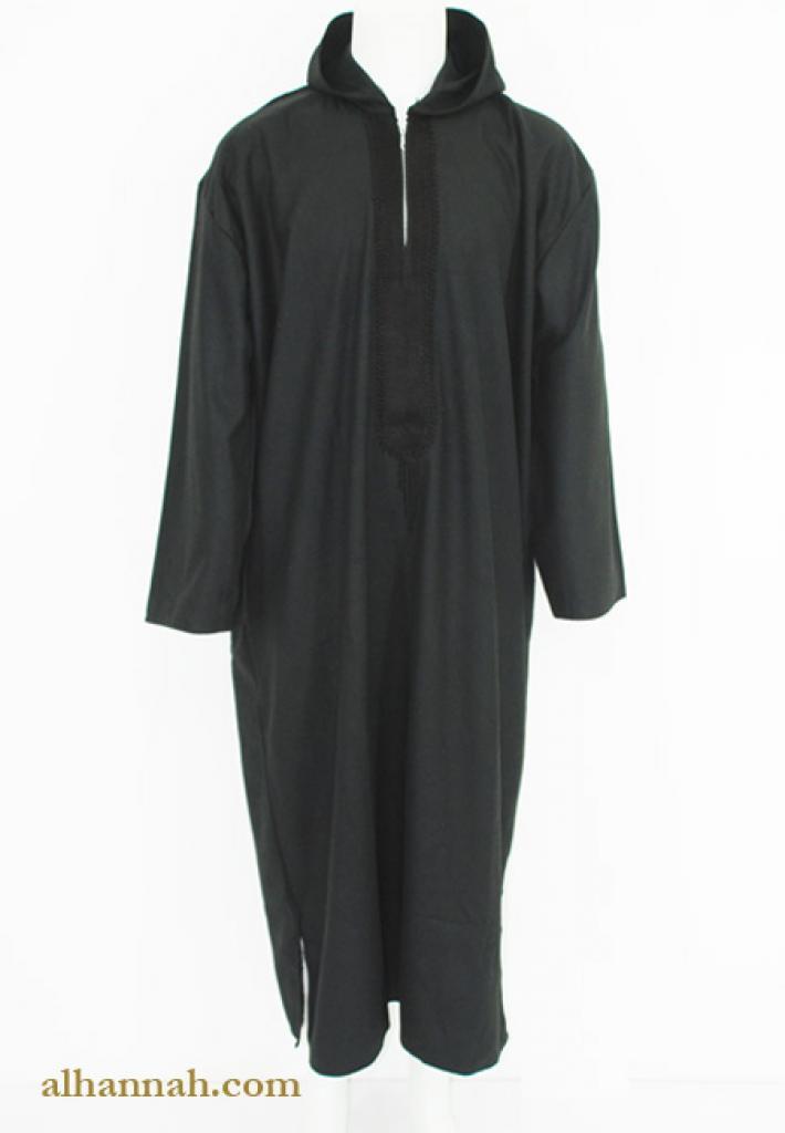 Premium Wool Moroccan Hooded Dishdasha me653