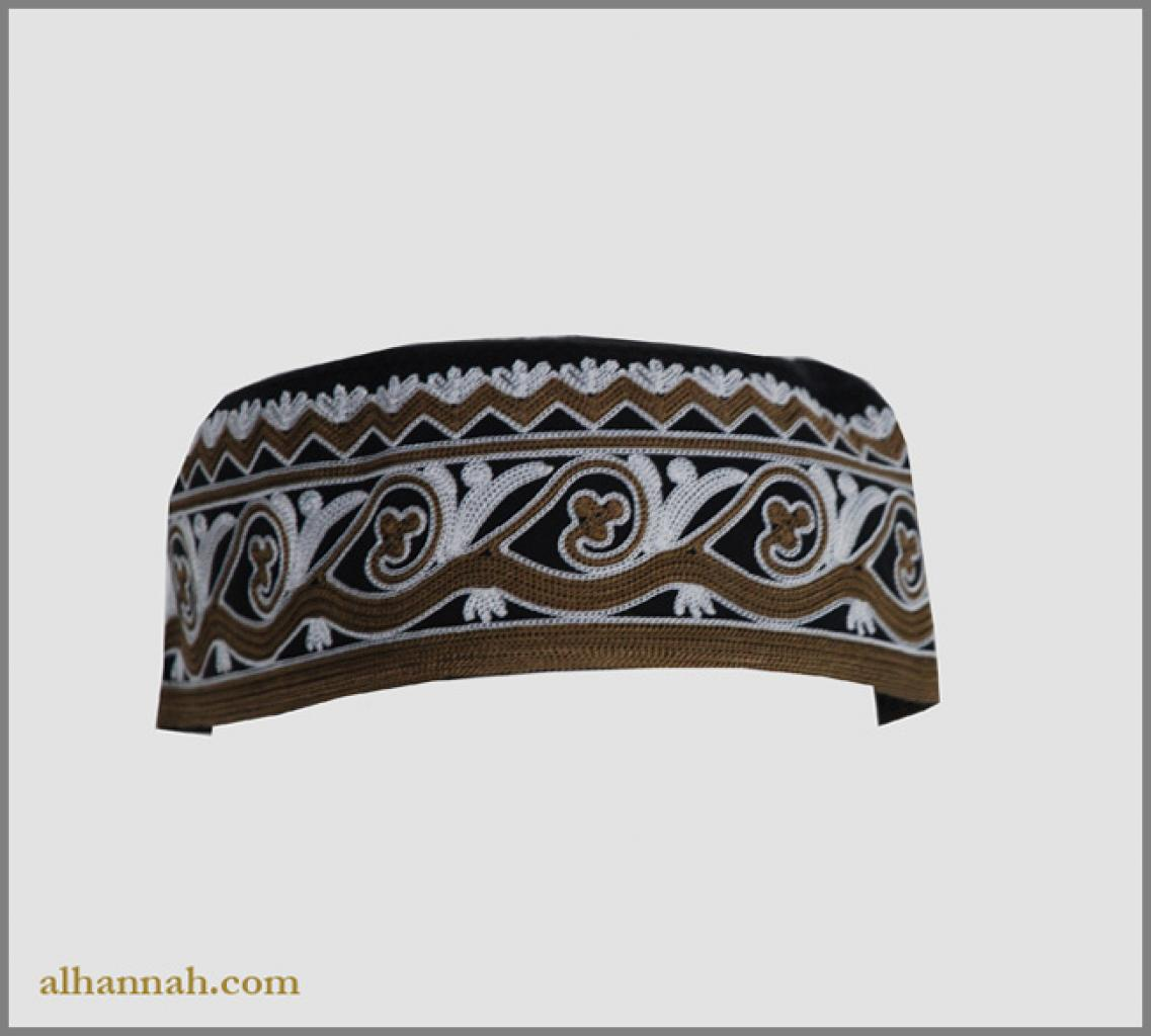 Men's Solid Kufi with Embroidery me659