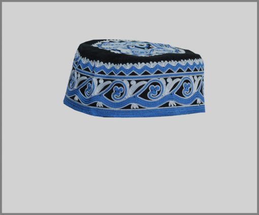 Men's Solid Kufi with Embroidery me660