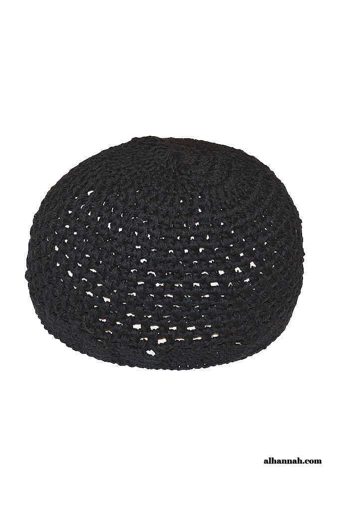 Cotton Muslim Crochet Kufi - Extra Large me673