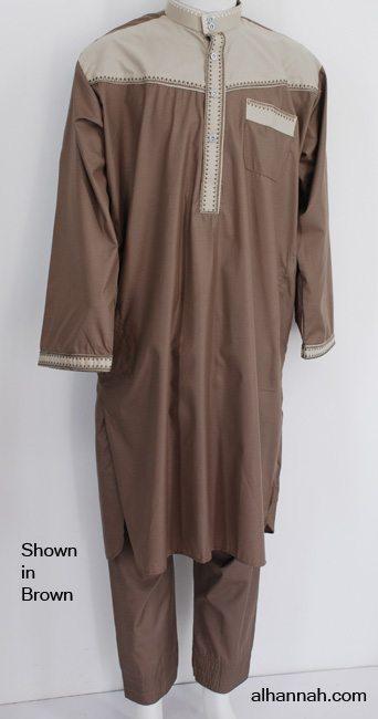 Mens Salwar Kameez with Contrast Color Design me689
