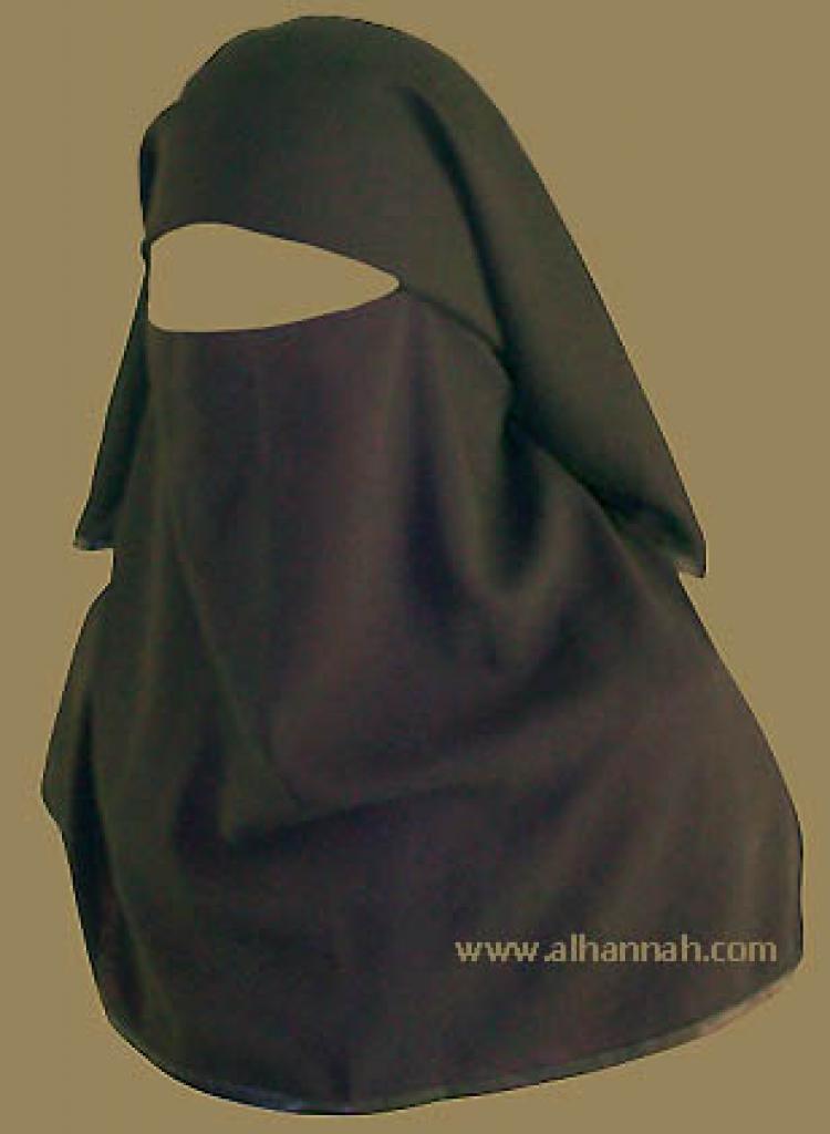 Double Layer Saudi Burqa -  With Screen - No Nose String  ni109