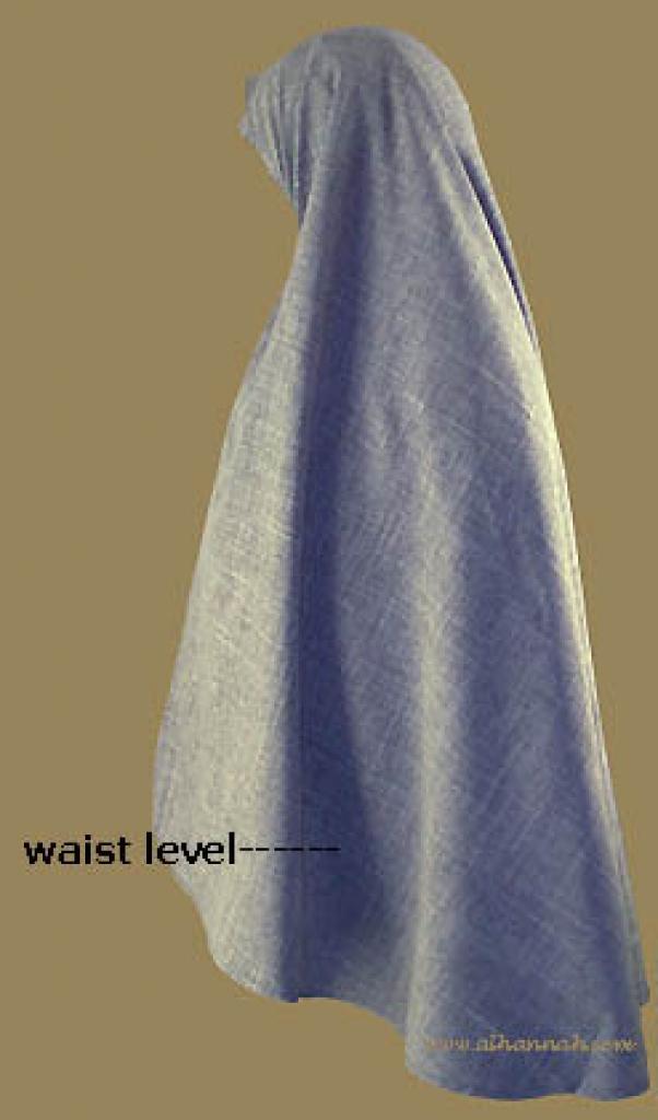 Waist Length Khimar and underscarf ni116