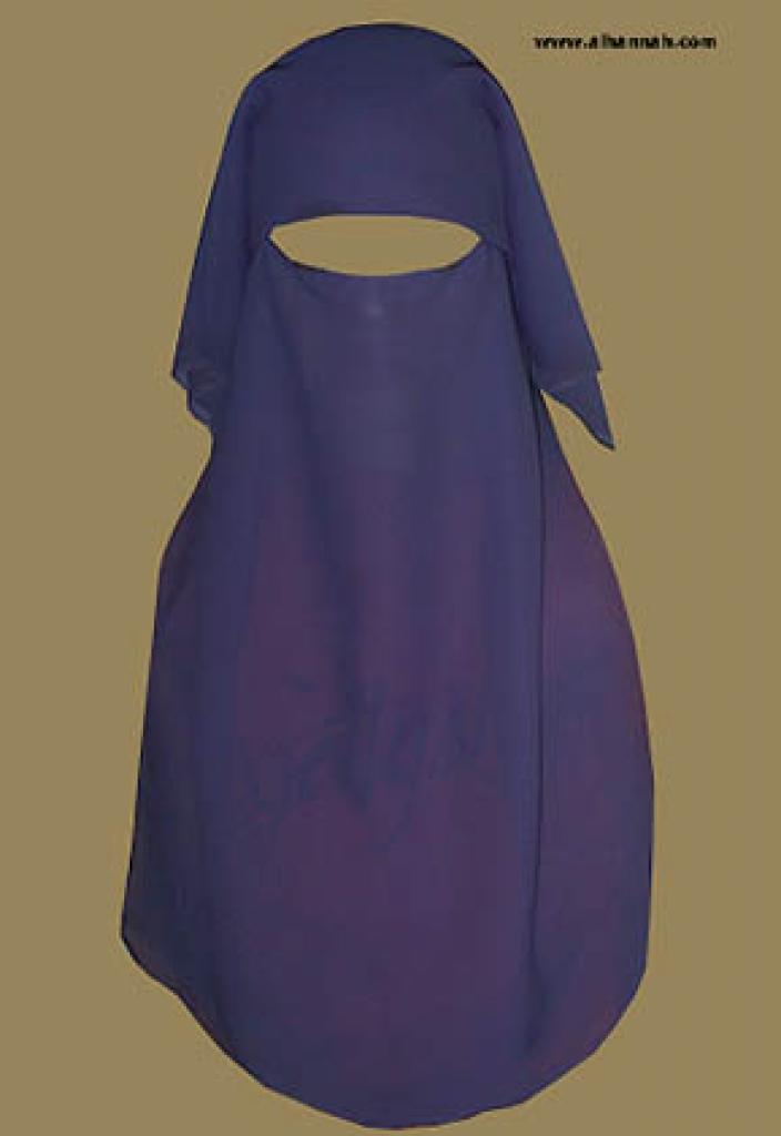 Triple Layer Saudi Burqa - With Double Screen - No Nose String   ni117