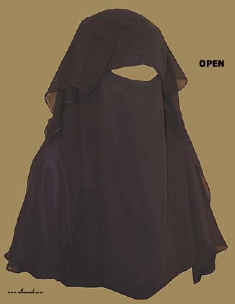Extra Large Saudi Triple Layered Burqa ni119