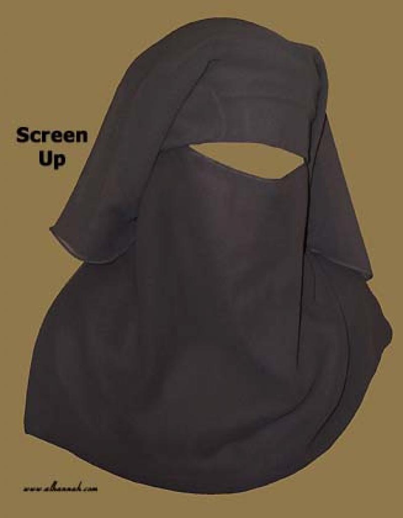 Traditional Saudi style triple layered burqa - no string  ni120