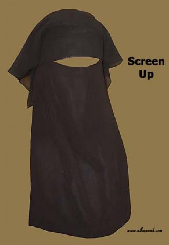 Traditional Saudi Style Triple Layered Burqa - No String ni122