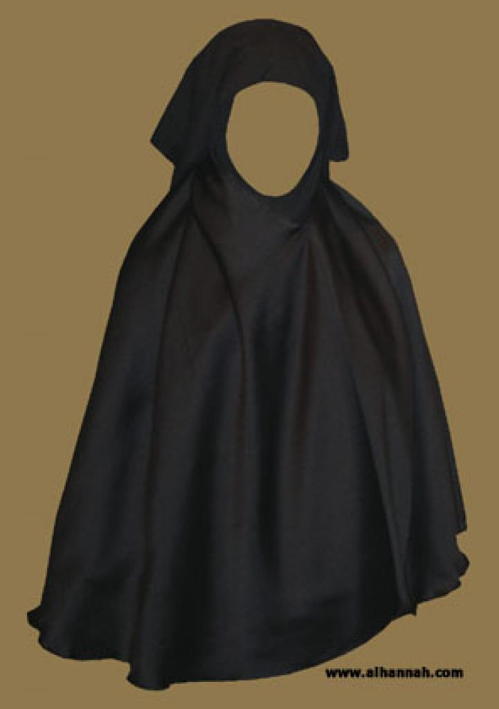 One Piece Khimar with Attached Niqab ni125