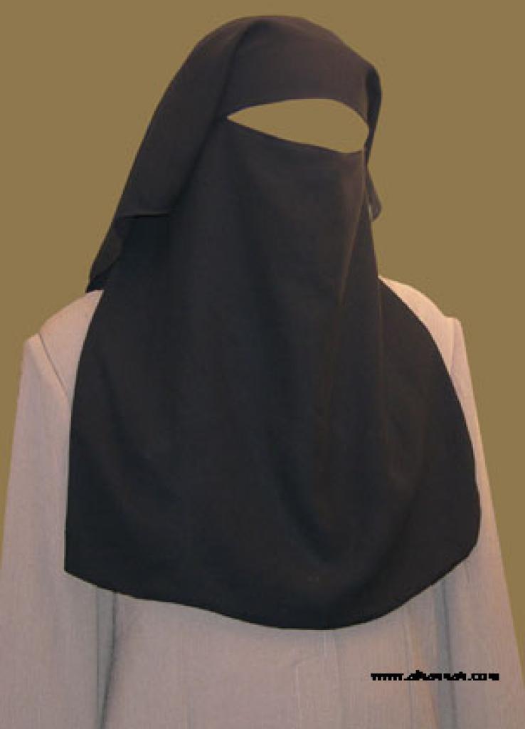 Double Layer Saudi Burqa with  Screen ni127