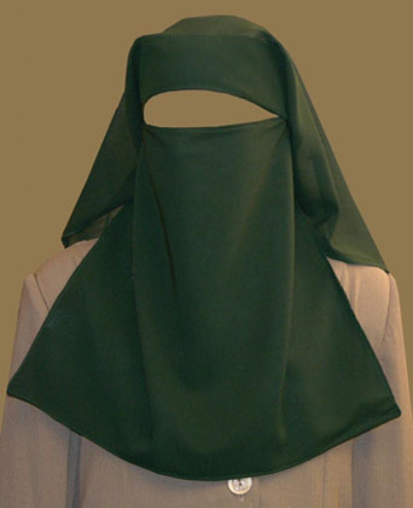Double Layer Saudi Burqa with  Screen ni128