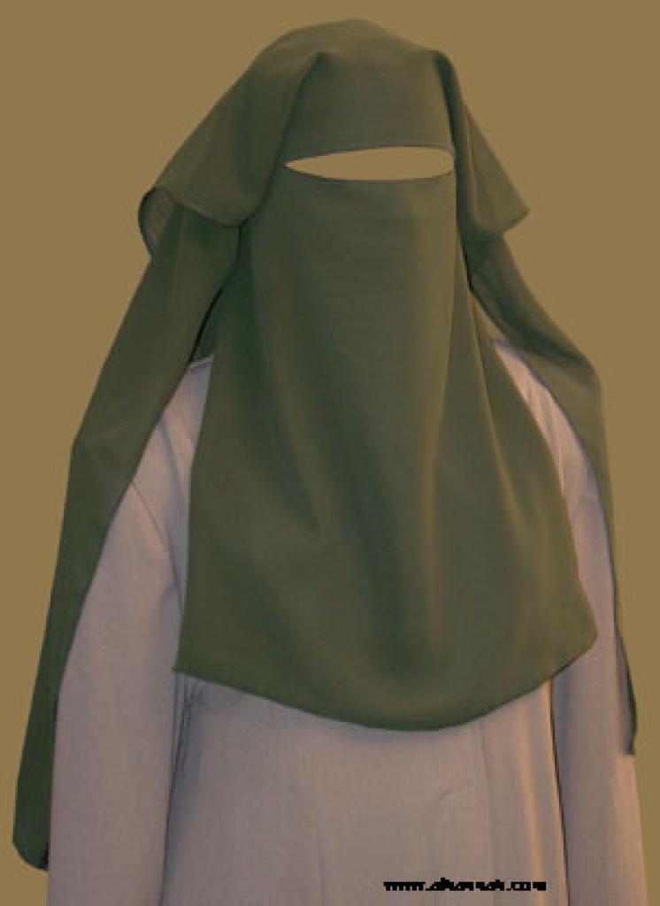 EXTRA LONG  Double Layer Saudi Burqa - With Screen - No Nose String ni129