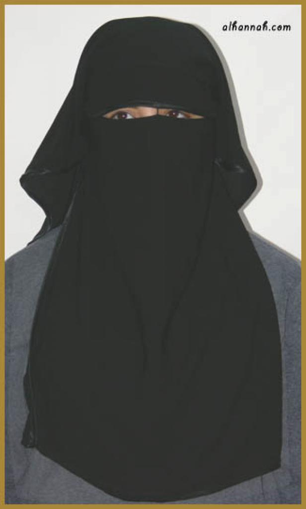 Double Layer Saudi Burqa - With Screen - With Nose String ni134