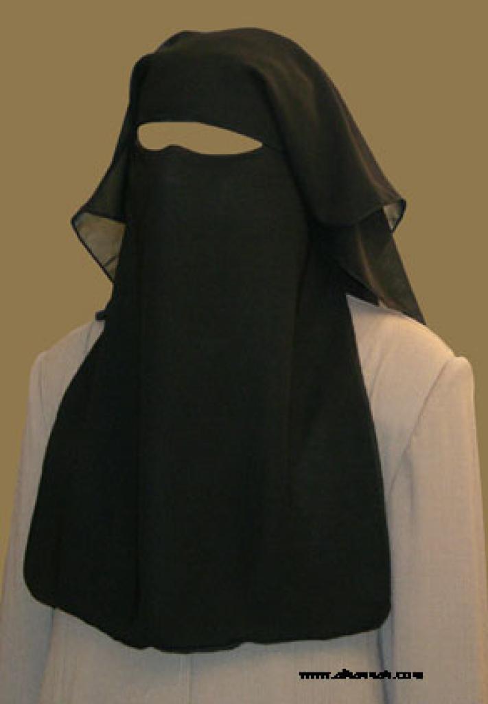 Traditional Saudi style triple layered burqa - without string ni136