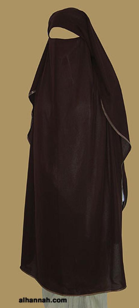 Extra-Large Knee-length Saudi style burqa ni138