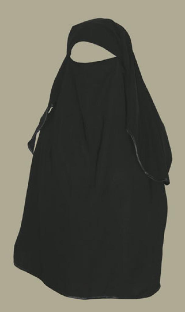 Traditional Saudi style triple layered burqa ni139