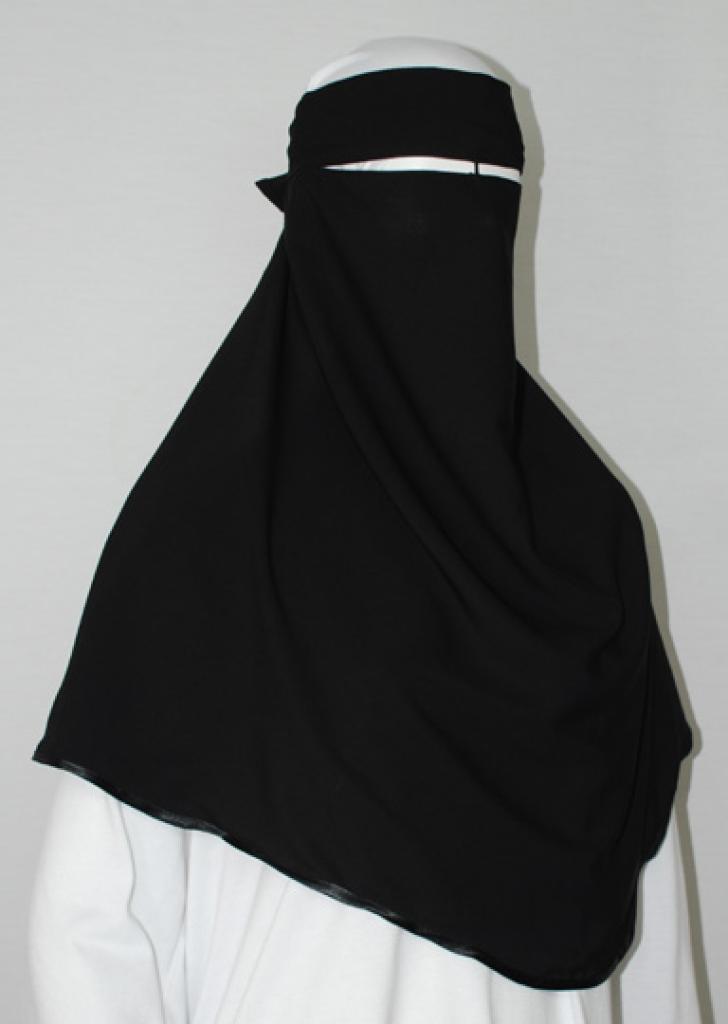 Satin Trim XL Multi-layer Burqa  ni149