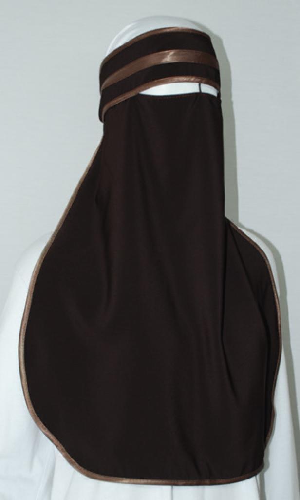 Satin Trimmed XL Burqa  ni150
