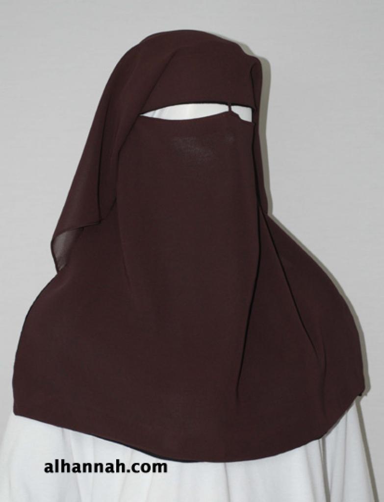 Traditional Saudi style triple layered burqa - with string ni152