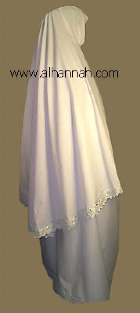 Prayer Set Trimmed with Eyelet lace/pastel ribbon ps302