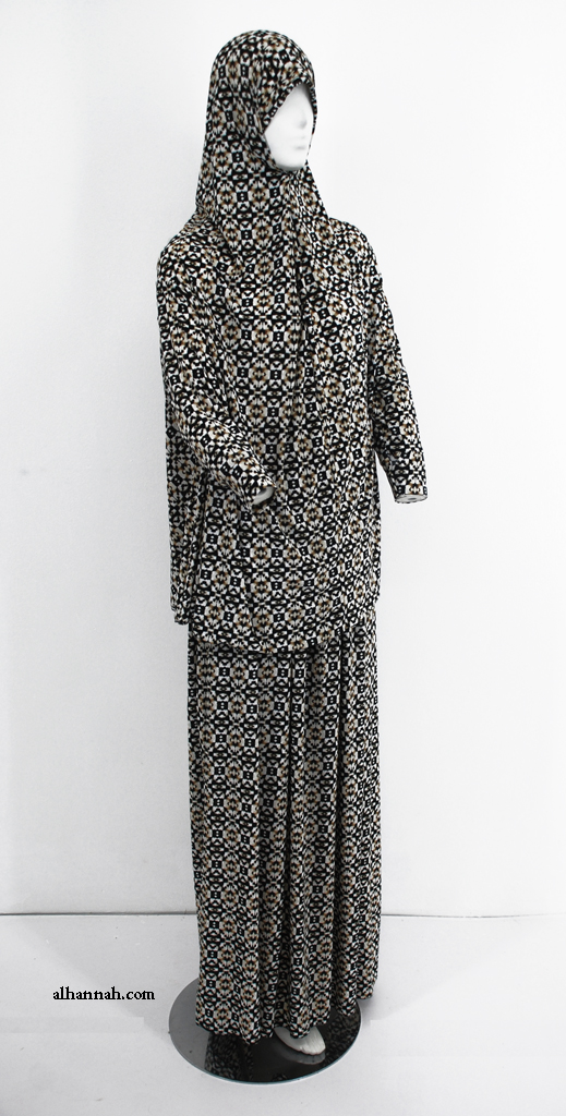 Deluxe Printed 2 Piece Prayer Outfit ps384