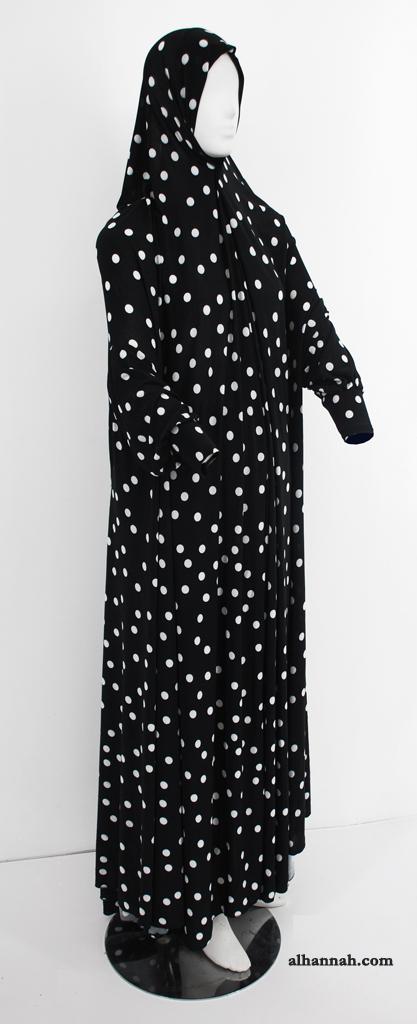 Dots Print One Piece Prayer Garment ps386