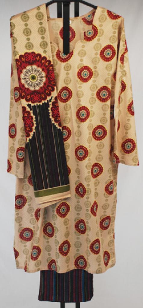 Circular Pattern Printed Cotton Salwar Kameez  sk1014