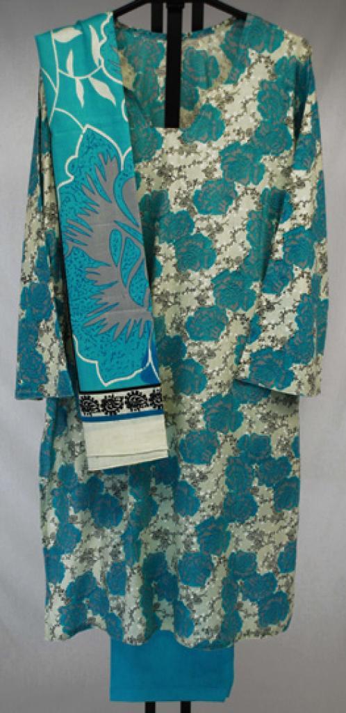 Aqua Roses Printed Cotton Salwar Kameez  sk1023