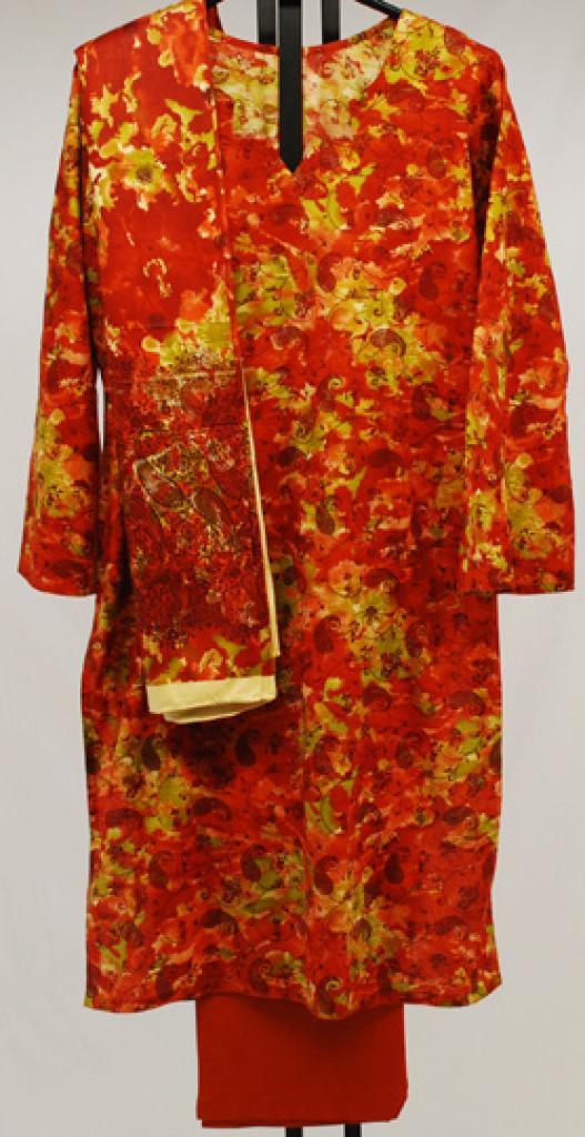 Paisley Foliage Printed Cotton Salwar Kameez sk1030