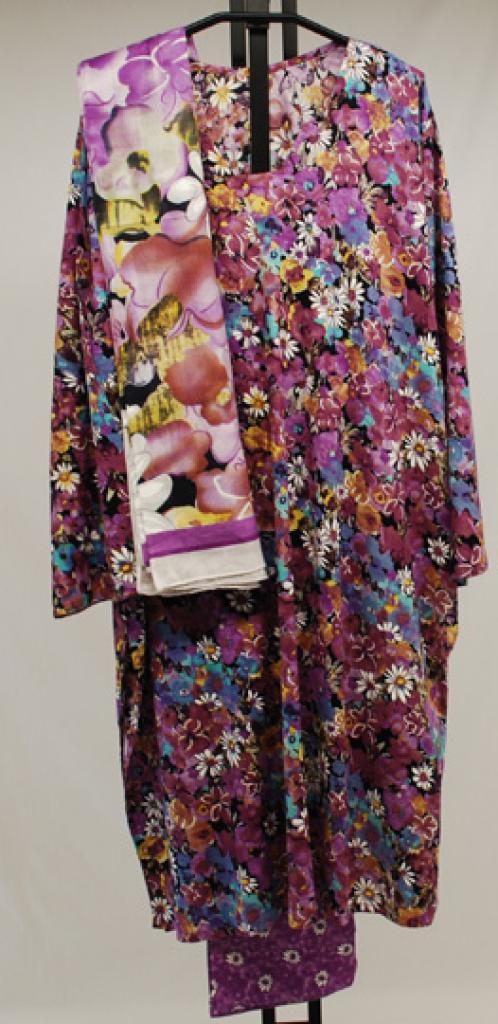 Summer Daisy Printed Cotton Salwar Kameez sk1040