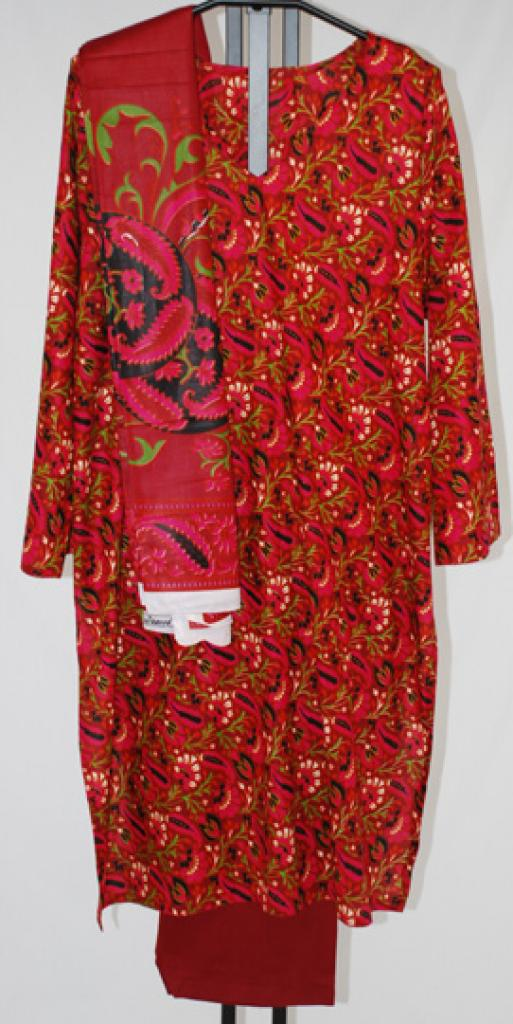 Bright Foliage Print Cotton Salwar Kameez sk1041