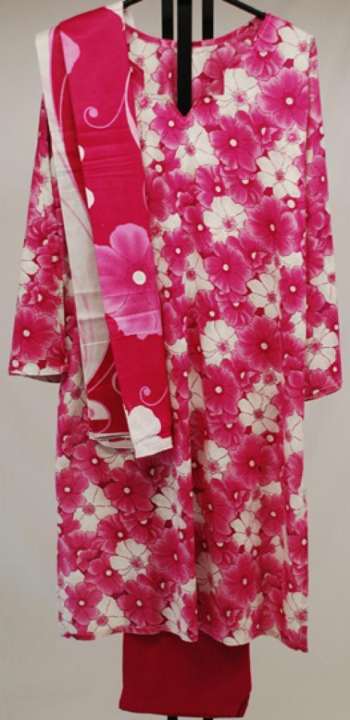 Vibrant Floral Print Cotton Salwar Kameez sk1043