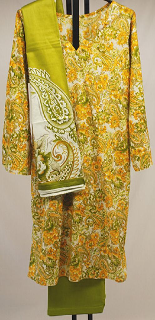 Vibrant Paisley Print Cotton Salwar Kameez sk1049