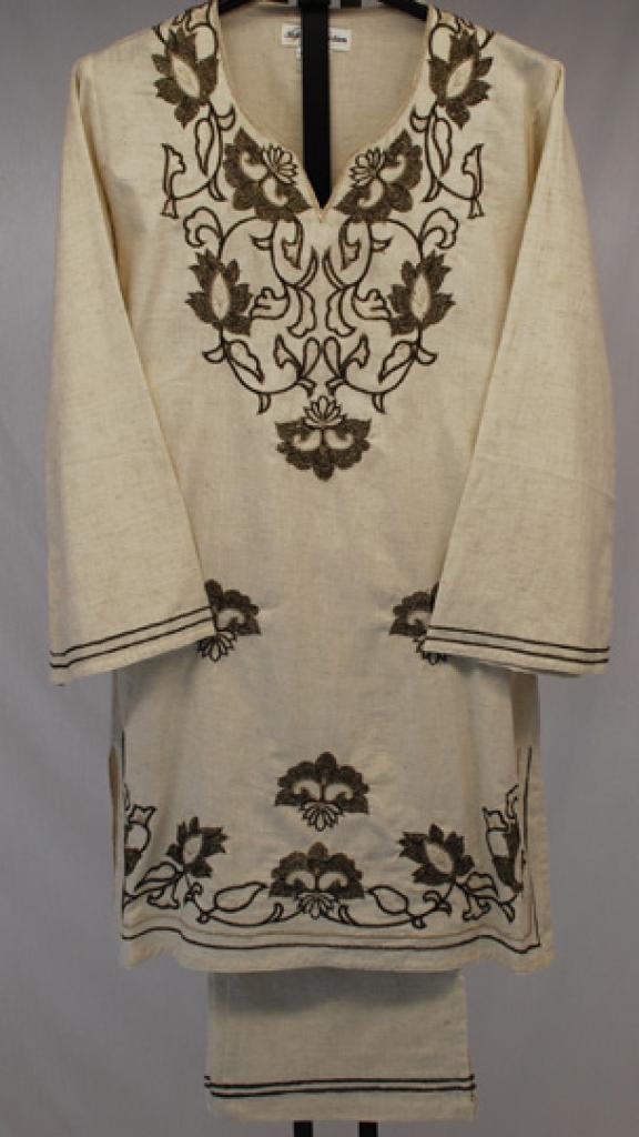 Floral Embroidered Linen Salwar Kameez  sk1054