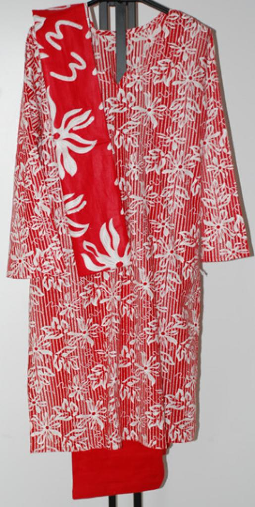 Abstract Floral Stripe Cotton Salwar Kameez sk1070