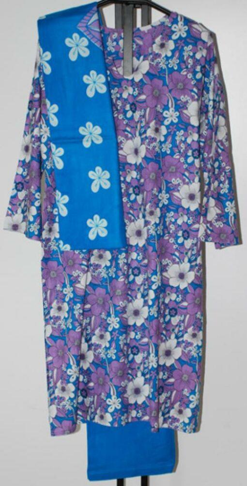 Tropical Floral Print Cotton Salwar Kameez sk1071