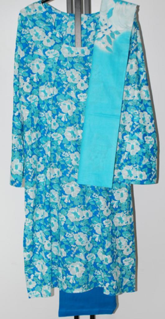 Aqua Floral Print Salwar Kameez sk1078