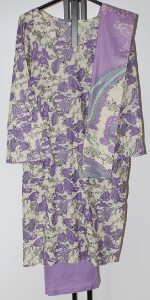 Lilac Paisley Print Salwar Kameez sk1079